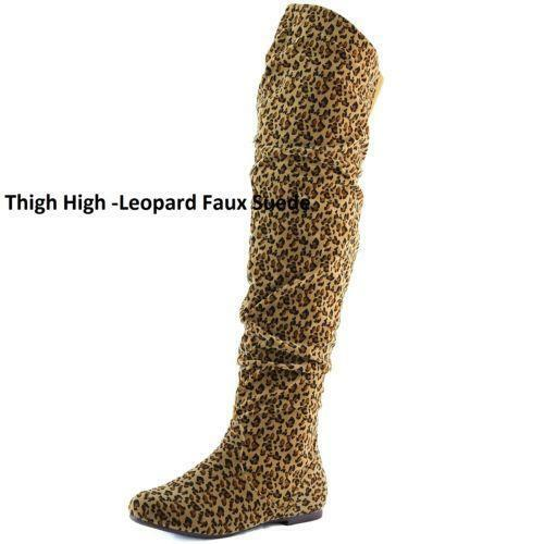 Leopard Thigh High Boots | eBay