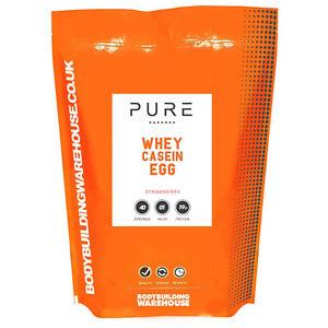 Pure Whey Protein Powder With Casein & Egg White Blend Protein Shake 1kg Vanilla