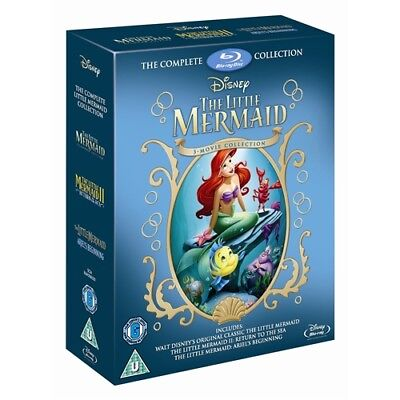 The Little Mermaid Trilogy 1+2+3 Boxset  New Blu-ray RB Collection