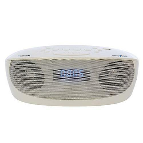 Lloytron N6401 Mains Or Battery Portable Bluetooth Stereo Alarm With MP3 - White