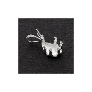 5x3mm-10x7mm-Solid-Sterling-Silver-Pear-Shape-Snap-tite-Pendant-Settings