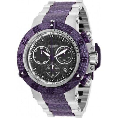 Invicta Men's 27864 Subaqua Quartz Chronograph Purple, Gunmetal Dial Watch
