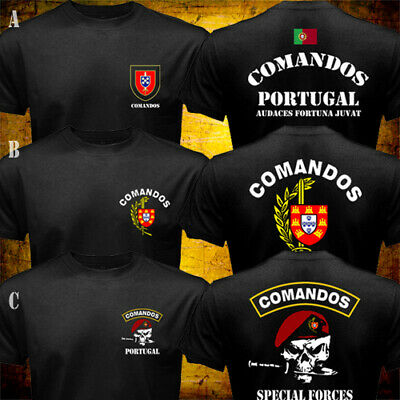 - Portuguese Army Special Forces Commando Comandos Portugal Military T-shirt