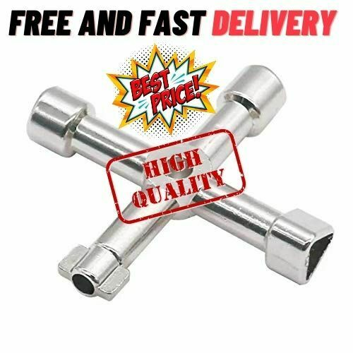 4-Way Sillcock Key For Outdoor Water Faucet Valves Residential Commercial US