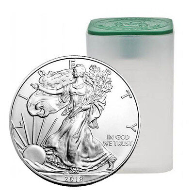 2018 American Silver Eagle Tube (20 Coins, BU)