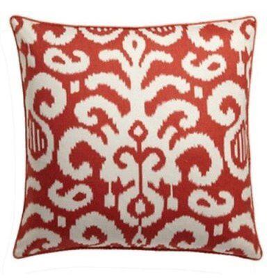 Throw Pillow 26-Inch Orange Jiti Lauri Designer Cotton Square