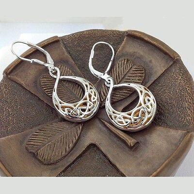 Sterling Silver CELTIC KNOT EARRINGS Keith Jack Window to the Soul Teardrop