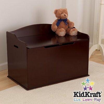 Kidkraft Austin Toy Kids Room Cherry Box Chest & Bench Storage & Organizer NEW