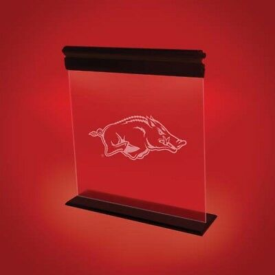 ARKANSAS RAZORBACKS ACRYLIC LED SIGN LIGHT LAMP UNIVERSITY MANCAVE -