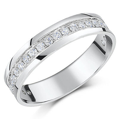 9ct White Gold Eternity Ring Half Carat 0.50ct Half Eternity Ring