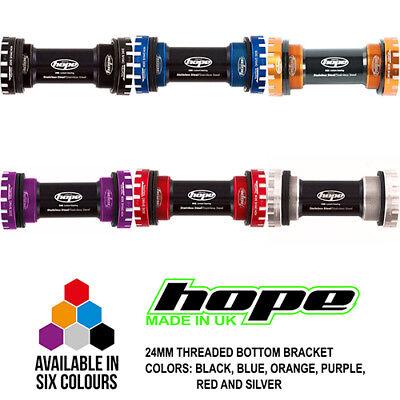 Hope Bottom Bracket 24mm Threaded Stainless Steel 68/73mm - All Colors - -