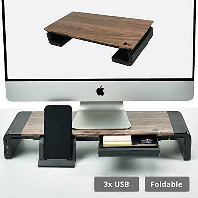 SIIG Computer Monitor and Laptop Stand Riser with Two USB A