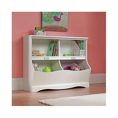 - Bookcase Toy Storage Bin Kids Bedroom Nursery Furniture Shelf Box Footboard Girl