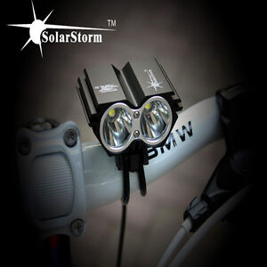 SolarStorm 5000 Lumen 2x CREE XM-L U2 LED Bicycle bike HeadLight Headlamp Light