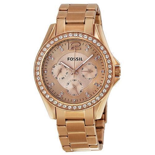 fossil riley rose gold watch ebay. Black Bedroom Furniture Sets. Home Design Ideas