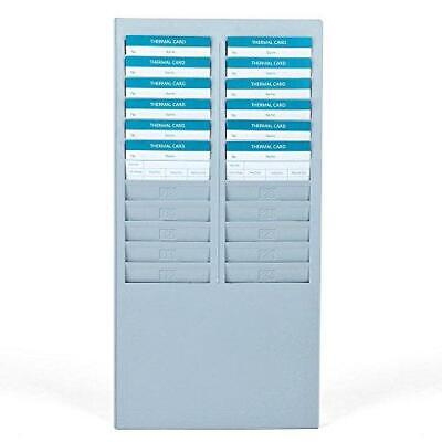 Flexzion Time Card Rack 25 Pocket Slots Wall Mounted Holder Compatible With 7