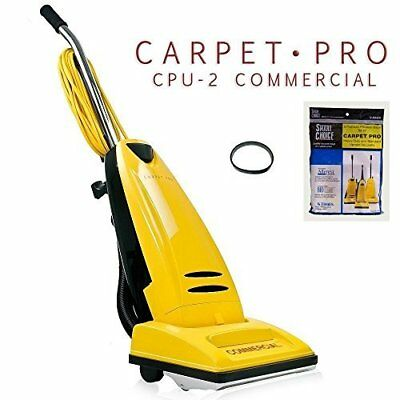 Carpet Pro CPU 2 Commercial Vacuum Cleaner + 3pk Upright Bag