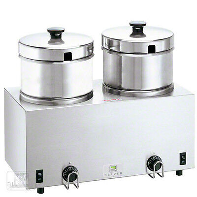 4-quart Twin Food And Soup Server - Warmer - Heater