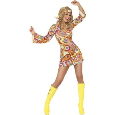 Smi - Karneval Damen Kostüm Hippie Braut Disco 60er Jahre - 60er Jahre Brautkleid Kostüm