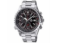 Casio Edifice Men's Watch with Solid Stainless Steel Bracelet
