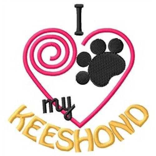 "I ""Heart"" My Keeshond Long-Sleeved T-Shirt 1340-2 Size S - XXL"