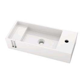 White ceramic wash basin IKEA Lillangen