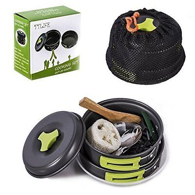 TTLIFE Camping Cookware Mess Kit Backpacking Gear Hiking Outdoors Bug Out Bag