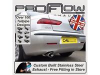 Alfa Romeo 156 Proflow Exhausts Custom Stainless Steel Exhaust Cat-Back System