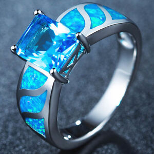 SILVER BLUE SAPHIRE RING SIZE 8 BRAND NEW $45.00