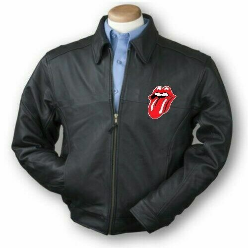 Rolling Stones leather bomber Jacket  all sizes