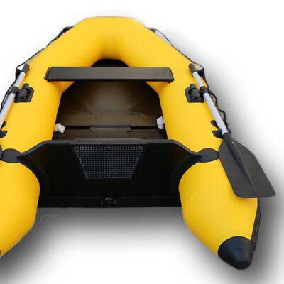 AQUAPARX Schlauchboot 230 Ruderboot Gelb Paddelboot Gummiboot Boot Sportboot NEU