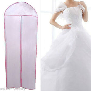 72-Waterproof-Wedding-Dress-Bridal-Gown-Garment-Cover-Storage-Bag-Carrier-Zip