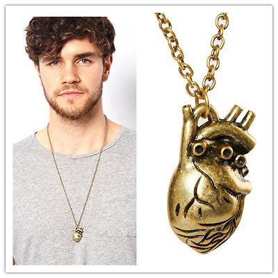 2015 New New Punk Gothic Human Anatomical Heart Small Pendant Necklace Xeac