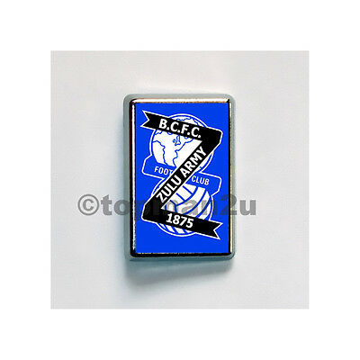 New, Quality Rectangle Metal Pin Badge ZULU ARMY, BCFC, Birmingham, Blues City