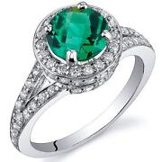 Emerald Ring Size P