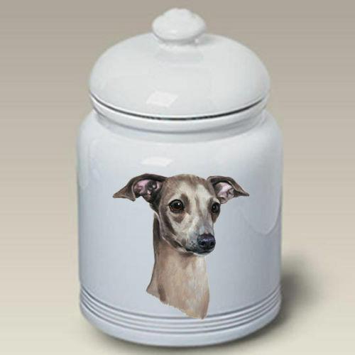 Italian Greyhound Ceramic Treat Jar LP 45065