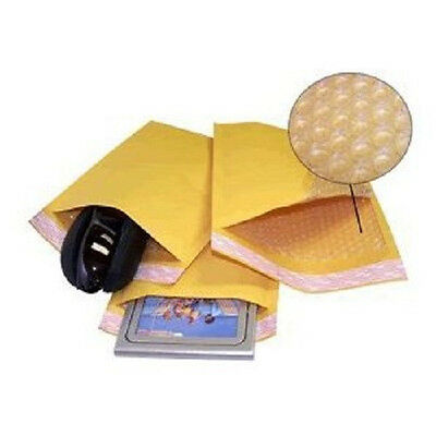 Yens 250 0 Kraft Bubble Padded Envelopes Mailers 6.5 X 10 Fit Dvd Cd Case
