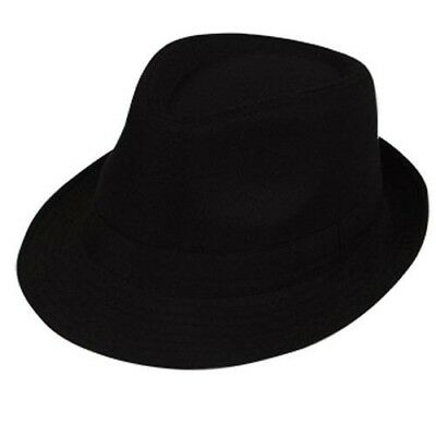 20s 1920s Jahre Klassisch Fedora Kostüm Hut langlebig Gangster Hut schwarz NEU (Klassische Gangster Kostüm)