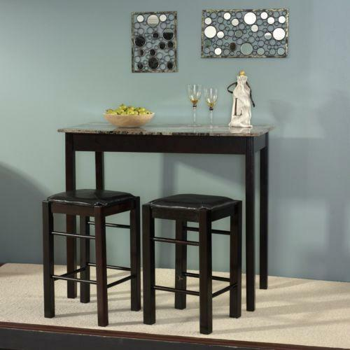 Kitchen Bar Dining Table: Counter Height Dining Set Marble