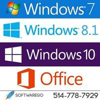 PROMO! Licence Microsoft Windows & Office + Service de Réparation