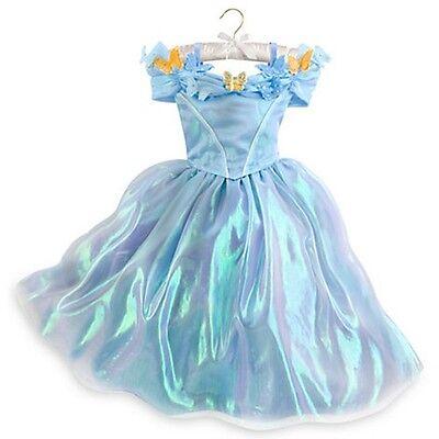 NWT Disney Store Princess Cinderella Halloween Deluxe Costume Dress 5/6,7/8,9/10 - Halloween Costume Disney Princess