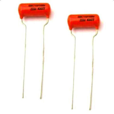 """1µf @ 400VDC 5 Pieces Poly /""""Mustard/"""" Style Tone Capacitors"""