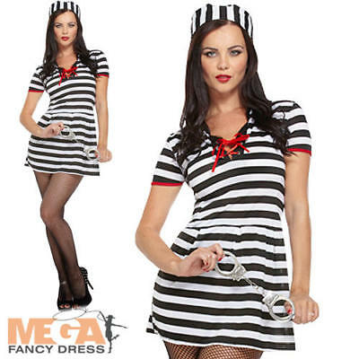 Dress Cops & Robbers Womens Adults Halloween Costume Outfit (Cops Robbers Halloween-kostüme)