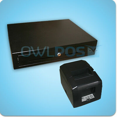Star Tsp654lan Receipt Printer Cash Drawer Combo Tsp650 Ethernet Square Shopkeep