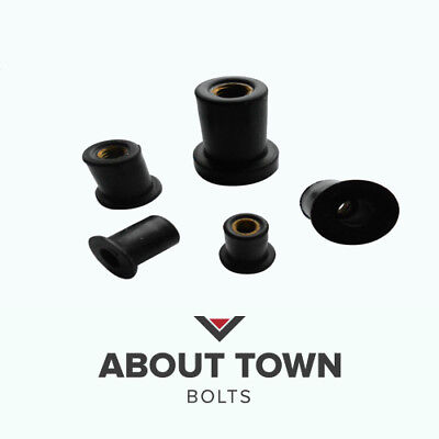 Rubber Well Nuts (Also known as Motorbike Fairing Nuts)
