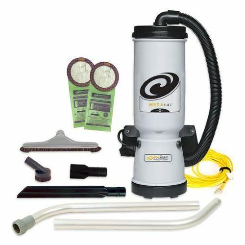 MegaVac 10 qt. Backpack Vacuum w/ Blower Tool and Hard Surface Horse Hair Brush