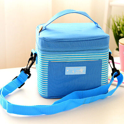 Portable Insulated Thermal Lunch Box Carry Tote ...