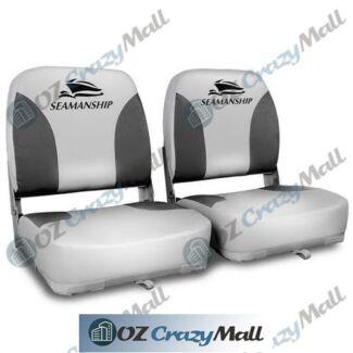 2 Premium Marine Swivels Folding Boat Seats