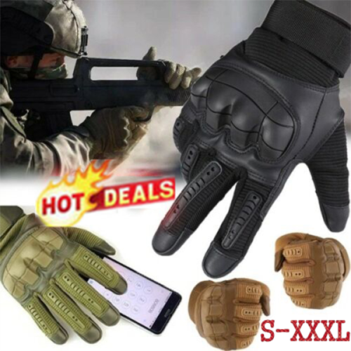 Tactical Hard Knuckle Gloves Men/'s Army Military Combat Airsoft Hunting Shoot UK