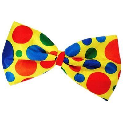 clown bow tie fancy dress dot multi color Z5F8 - Clown Bow